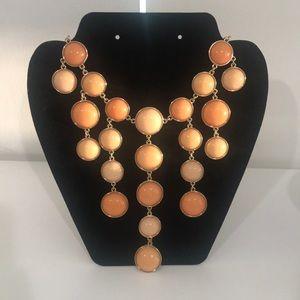 Pastel Orange Statement Necklace